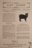 Cat Gossip publication 1927
